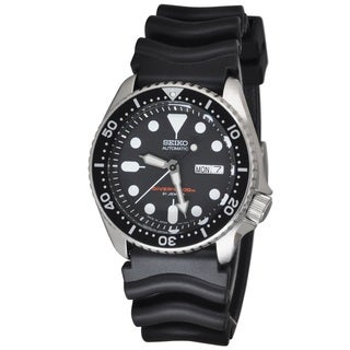 Seiko Men's Automatic SKX007J1 Black Rubber Japanese Movement Automatic Watch