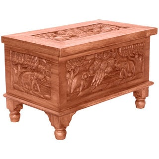 Elephant Design Acacia Coffee Table Chest (Thailand)