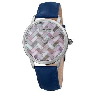 Akribos XXIV Women's Japanese Quartz Leather Strap Watch