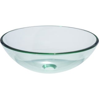 Como Clear Round Tempered Glass Vessel Basin Sink Clear Glass Sink