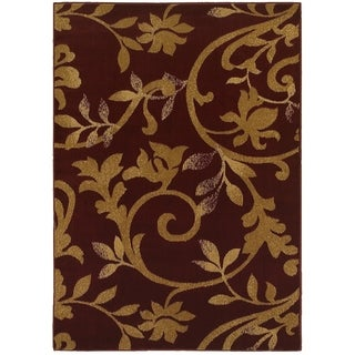 "LR Home Grace Vines Red Indoor Area Rug - 3'7"" x 5'6"""