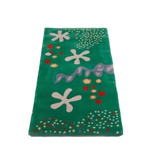 Hand-tufted Hans Andersen Home Adela Multicolored Wool Rug (3' x 6'7)