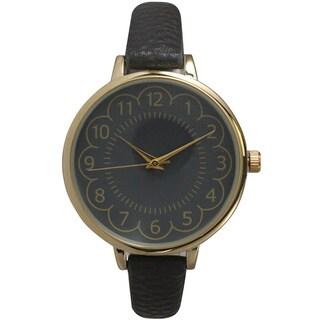 Olivia Pratt Women's Leather Petite Antique-style Watch