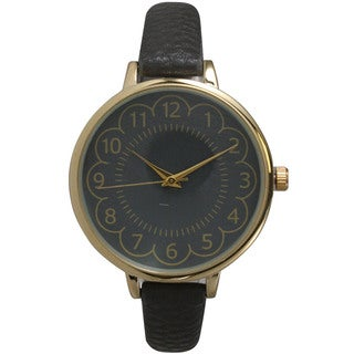 Olivia Pratt Women's Leather Petite Antique-style Watch