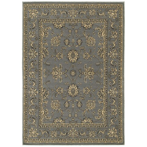 """LR Home Grace Traditional Gray Indoor Area Rug ( 5'2"""" x 7'2"""" ) - 5'2 X 7'2"""
