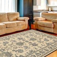 """LR Home Grace LR81137 Cream Plush Indoor Area Rug 7'9"""" x 9'5"""" - 7'9 x 9'6"""