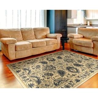 "LNR Home Grace LR81136 Cream Plush Indoor Area Rug 7'9"" x 9'5"""