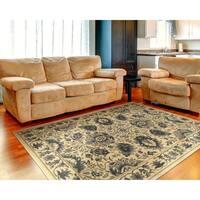 LR Home Grace LR81136 Cream Plush Indoor Area Rug - 7'9 x 9'6