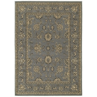 "LNR Home Grace LR81130 Gray Plush Indoor Area Rug 7'9"" x 9'5"""