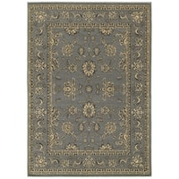 "LR Home Grace Traditional Gray Indoor Area Rug ( 7'9"" x 9'5"" ) - 7'9 x 9'6"