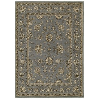 LNR Home Grace LR81130 Gray Plush Indoor Area Rug (7'9 x 9'6)