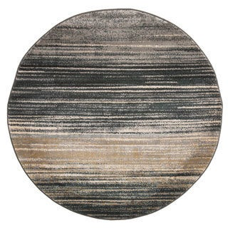 Windsor Home Opus Dark Abstract Stripes Area Rug (5' Round) - 5'