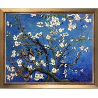 Vincent Van Gogh 'Branches Of An Almond Tree In Blossom' Hand Painted Framed Canvas Art