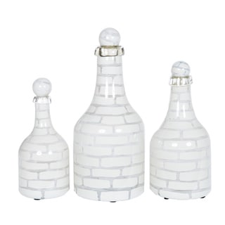 Bottles with Tops in Gypsum Flats (Set of 3)