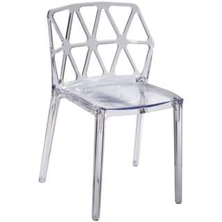 Zig Zag Clear Acrylic Dining Chair