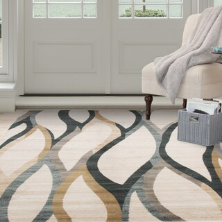 Windsor Home Opus Contemporary Curves Area Rug (3'3 x 5')