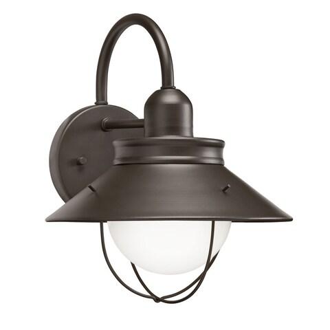 Transitional 1-light Olde Bronze Outdoor Wall Lantern