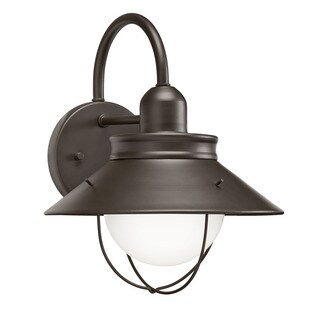 Transitional 1-light Olde Bronze Outdoor Wall Lantern