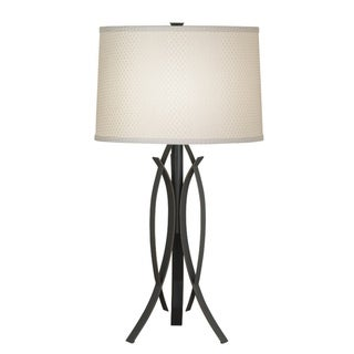 Kichler Lighting Contemporary 1-light Bronze with Cream Shade Table Lamp
