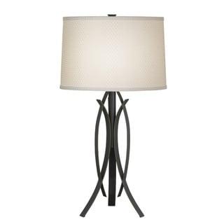 Kichler Lighting Contemporary 1-light Bronze with Cream Shade Table Lamp