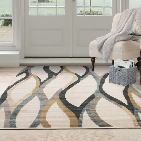 Windsor Home Opus Contemporary Curves Area Rug (8 x 10) - 8' x 10'
