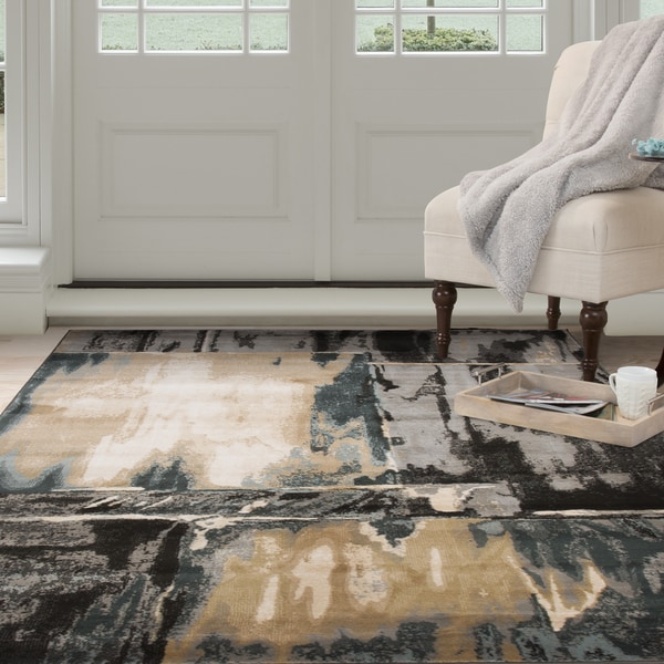 Windsor Home Opus Artfully Abstract Area Rug (3'3 x 5') - 3'3 x 5'