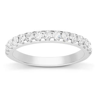 Charles and Colvard Sterling Silver 1/2ct DEW Forever Classic Moissanite Wedding Band|https://ak1.ostkcdn.com/images/products/11663618/P18593230.jpg?impolicy=medium