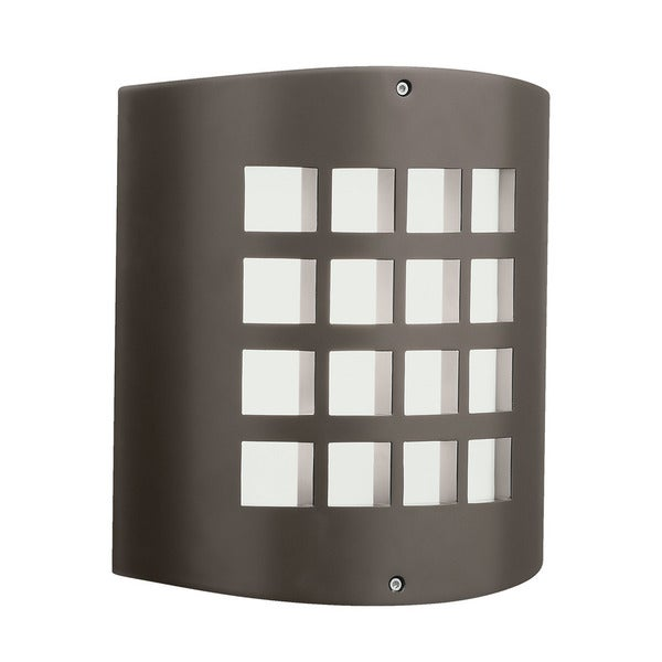 Shop Kichler Lighting Contemporary 1 Light Architectural Bronze Outdoor Wall Sconce Free