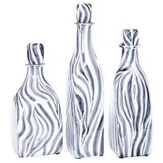 Glass Bottle with Stopper in Zebra