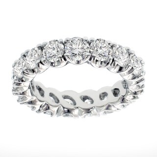 Platinum 3.05 - 3 4/5ct TDW Brilliant-cut Diamond Eternity Ring (G-H, SI1-SI2)