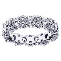 Platinum 4 - 4 4/5ct TDW All Around Diamond Eternity Wedding Band