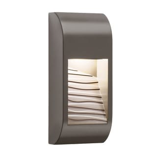 Kichler Lighting Contemporary 1-light Architectural Bronze LED Outdoor Wall Sconce