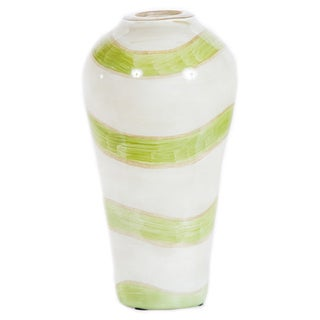 Small Vase in Celadon Swirl