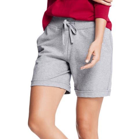 Hanes Women's French Terry Bermuda Pocket Short