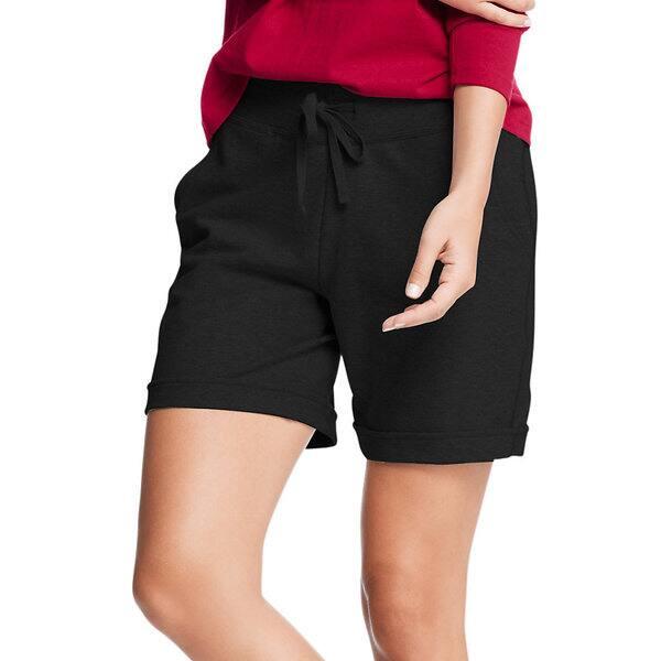 212137b9bd Shop Hanes Women's French Terry Bermuda Pocket Short - Free Shipping ...