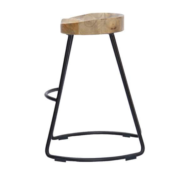 Outstanding Shop Wooden Saddle Seat Barstool With Metal Legs Large Gmtry Best Dining Table And Chair Ideas Images Gmtryco