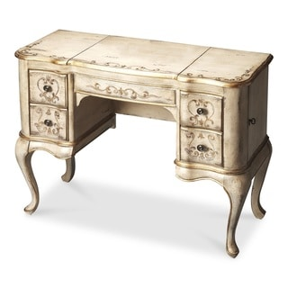 Hand Painted Guilded Cream Vanity/Dressing Table