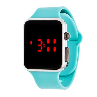 Zunammy Digital Core Men's Sport Digital with Turquoise Rubber Strap Watch