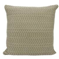 Mina Victory Leather Basket Weave Grey Throw Pillow by Nourison (20-Inch X 20-Inch)