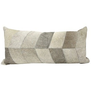 Joseph Abboud Chevron Light Grey Throw Pillow (14-inch x 30-inch) by Nourison