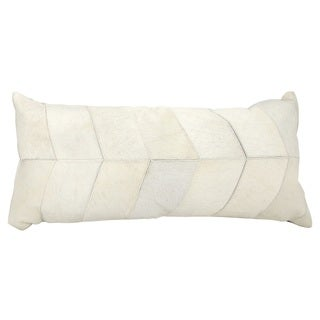Joseph Abboud Chevron White Throw Pillow (14-inch x 30-inch) by Nourison