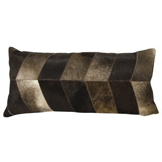 Mina Victory Chevron Dark Brown 14 x 30-inch Throw Pillow by Nourison