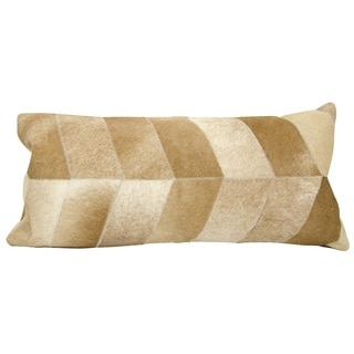 Mina Victory Chevron Beige 14 x 30-inch Throw Pillow by Nourison