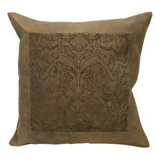 Mina Victory Laser Cut Paisley Brown Throw Pillow by Nourison (20-Inch X 20-Inch)