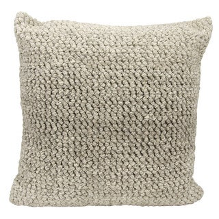 Joseph Abboud Ombre Loop Grey Throw Pillow (22-inch x 22-inch) by Nourison