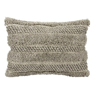 Joseph Abboud Loop Cut Grey Throw Pillow (14-inch x 20-inch) by Nourison