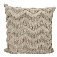 Joseph Abboud Loop Chevron Grey Throw Pillow (22-inch x 22-inch) by Nourison