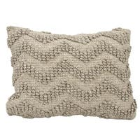 Mina Victory Loop Chevron Grey 14 x 20-inch Throw Pillow by Nourison