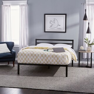 Priage Queen-size Black Metal Platform Bed