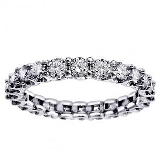 Platinum 2 1/10 - 2.45ct TDW Round Diamond Eternity Wedding Band (G-H, SI1-SI2)